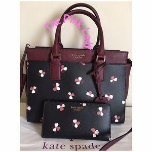 Kate Spade Cameron Dusk Buds Ditsy Satchel Wallet